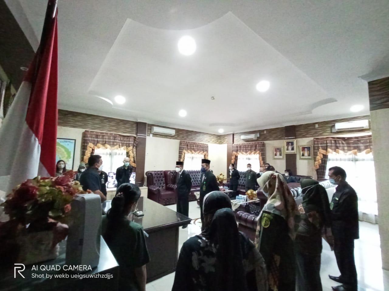 Serah terima tugas dan tanggung jawab Ketua Pengadilan Negeri Lubuk Pakam Kelas I A dari Bapak Jhon Sarman Saragih S.H. M. Hum. kepada Bapak Wakil Ketua R. Heru Kuntodewo, S.H., M.H.